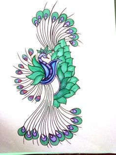 Index Of Wp Content Uploads 2013 08Dancing Peacock Painting On Fabric