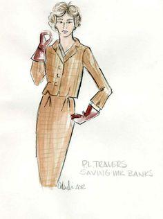 Saving Mr Banks costume sketch tweeds By Daniel Orlandi Disney (2012)