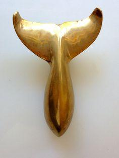 Brass vintage and shaving kits on pinterest - Whale door knocker ...