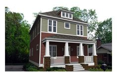 House Plan 461-2; modern 4-square, 4 bedrooms