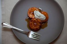 Grilled Apricots with Whipped Ricotta, Basil and Sherry Vinegar Syrup Recipe on Food52 recipe on Food52