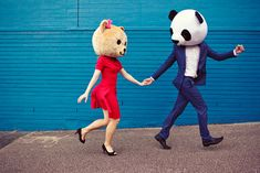 Image uploaded by Ellen Velten. Find images and videos about love, cute and couple on We Heart It - the app to get lost in what you love. Lets Be Weird Together, Teen Dictionary, Bear Head, Panda Head, Big Panda, Owl Head, Panda Panda, Photo Couple, Couple Fun