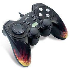 Controle GamePad Genius MaxFire Blaze3 Vibratório para games Pc/PS3 - Box. R$46