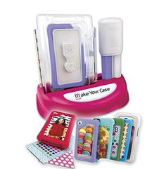 The first-ever kit for making your own cell phone cases and customizing them to your style and taste. It comes with 4 ready-made cell phone cases to decorate and molding material to create two additional cases from scratch. The kit comes with gem and alphabet stickers and designer paper. #toy game holiday gift christmas