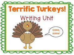 November writing: Turkey informational, creative, and descriptive writing activities $