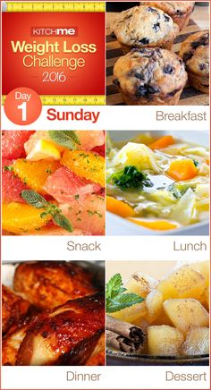 Day 1 Meal Plan – Weight Loss Challenge Recipes for Weight Watchers