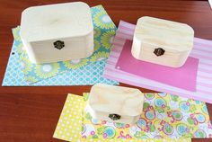 DIY Mod Podge Wooden Jewelry Boxes contributor Cami This Silly
