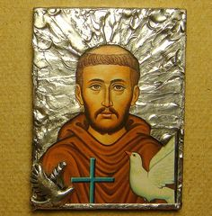 St Francis of Assisi Pocket or Travel Icon by saintlyimagesandmore