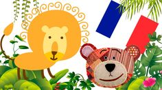 Jungle animals for kids in french