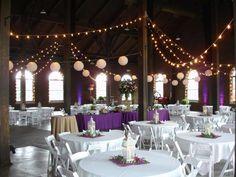 Purple & White Wedding Table Ideas