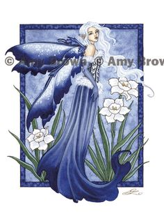PRINTS-OPEN EDITION - Flower Faeries - Amy Brown Fairy Art - The Official Gallery (December Narcissus)