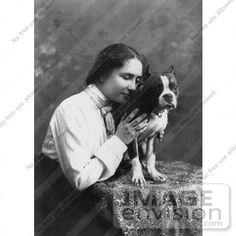 Helen Keller with her Boston Terrier - That's love!!