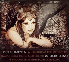 Moria Chappell's poster for Hawaii Belly Dance Convention 2015