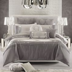 The Other Option Of Luxurious Glam Bedding Sets : Nouveaux Ice Luxurious  Glam Bedding Set · Silver Bedroom ...