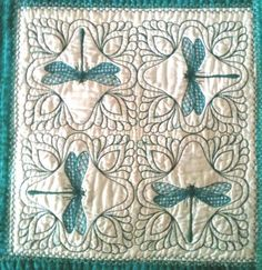 quilted dragonflies I wish I had paid more attention to my Grandma Powell's beautiful talents in quiltmaking!