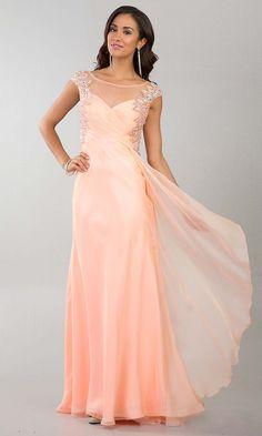 Peach prom dress, blush prom dress, pink prom dress, 2017 prom ...