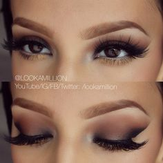 Natural & Simplistic Eye Makeup, great tip for this look is to use tape while applying liner and eyeshadow that will give you the crisp line ~ Gorgeous!!!