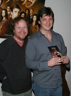 Joss and Nathan at the DVD release(back in the day)