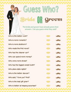Custom/Personalized Bridal Shower Game.