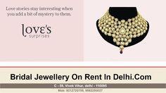 Bridal Jewellery on Rent In East Delhi - Kundan Wedding Jewellery