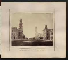 Description: Post Office and Town Hall, Adelaide, South Australia.    Location: Adelaide, South Australia, Australia    Date: 1876