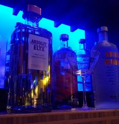 #Absolut vodka at #VanessasBistro2 #RestaurantDesign #Blue
