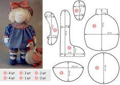 В гости к маме Лоре.: Как сшить интерьерную куклу своими руками