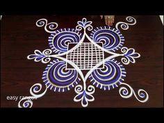 latest color padi kolam rangoli designs with 5 dots * easy & simple muggulu Easy Rangoli Designs Diwali, Small Rangoli, Rangoli Designs With Dots, Beautiful Rangoli Designs, Kolam Designs, Indian Rangoli, Kolam Rangoli, Henna Art Designs, Designs To Draw