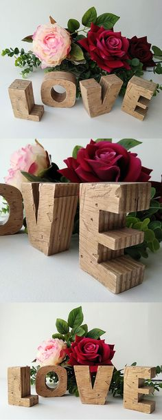 #love de #madera #vintage #decorativo#hogar#enamorados #amor Diy Furniture Easy, Kids Furniture, Love Vintage, Easy Diy, Place Card Holders, Woodworking, Table Decorations, Projects, Crafts