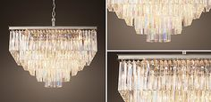 1920S Odeon Glass Fringe | RH Restoration Hardware, Drapery, Service Design, My Dream Home, Chandeliers, 1920s, Room Ideas, Dining Room, Ceiling Lights