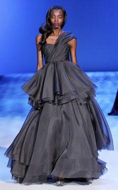 FALL 2010 READY-TO-WEAR // Christian Siriano // Model Georgie Badiel