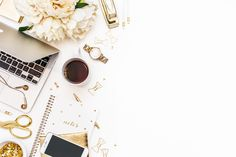 Items similar to White and Gold Office Desk Styled Stock Photo / Product Mockup / Styled Stock Photography / KateMaxStock High Res File on Etsy Gold Office, Office Desk, White Office, Texture Web, Desk Styling, Desk Layout, Design Typography, Photoshop, Branding Your Business
