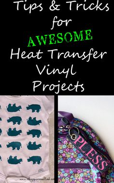 Tips and Tricks for Awesome Heat Transfer Vinyl Projects - It Happens in a Blink Silhouette Cutter, Silhouette Vinyl, Silhouette Machine, Silhouette Cameo Tutorials, Silhouette Projects, Heat Press Vinyl, Heat Transfer Vinyl, Vinyl Crafts, Vinyl Projects