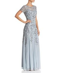 Wedding Guest Formal Dress Adrianna Papell New Ideas Mother Of The Bride Dresses Long, Mother Of Bride Outfits, Mothers Dresses, Long Mothers Dress, Blue Wedding Dresses, Tea Length Wedding Dress, Dress Wedding, Mob Dresses, Formal Dresses