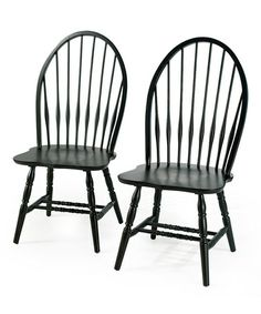 Black Windsor Chair   Set Of Two