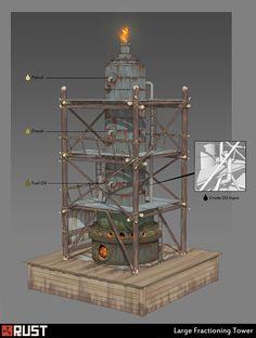 Fuel Refineries, Howard Schechtman on ArtStation at https://www.artstation.com/artwork/fuel-refineries