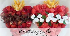 A Fruit Tray Idea for the Sacred and Immaculate Hearts - Mary Haseltine - Better Than Eden Catholic Feast Days, Saint Feast Days, Catholic Crafts, Catholic Kids, All Saints Day, Fruit Smoothie Recipes, Desserts For A Crowd, Thanksgiving Crafts, Melting Chocolate