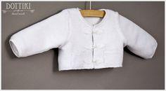 White Christening Sweater Boys BoleroBoys Jacket Linen by DOTTIKI