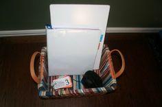 memorization basket- an MP3 player, binder, cards, other materials for memorizing...