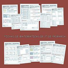 Fichas de matemáticas. Segundo de primaria Math Centers, Diy And Crafts, Homeschool, Bullet Journal, Maths, Amanda, Preschool, Activities, Blue Prints