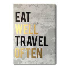 Wynwood Studio 'Eat Well' Art Plaque