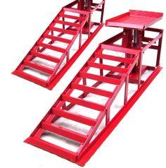 Lifting Car Ramp Jack 2t 2 Heights Hydraulic Adjustable Pair Car Maintenance Ram | eBay