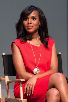 Kerry Washington doing press for 'Scandal' in NYC. Makeup by Brigitte Reiss-Andersen for NARS. Styling by Erin Walsh.