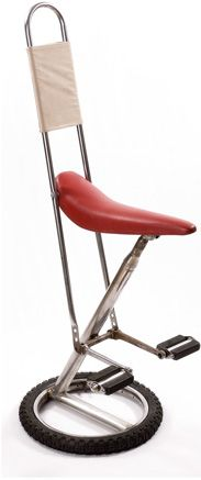 Bicycle chair made of upcycled, salvaged bike parts. Not sure if it is comfy, but it is cool.