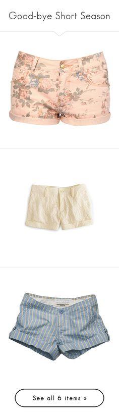 """Good-bye Short Season"" by babyboobunbun ❤ liked on Polyvore featuring goodbye, missyou, farewell, shorts, bottoms, pants, short, pink, studded denim shorts and pink studded shorts"