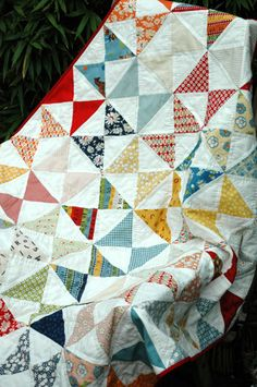I seem to gravitate to scrappy quilts