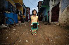 Slum school tablet