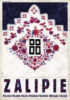 Zalipie, Poland's Painted Village Zalipie - malowana wioska, Polska Kaja Ryszard Polish Poster