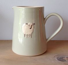 Large Jug with Sheep