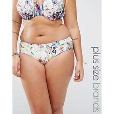 Robyn Lawley Wild Bouquet High Waist Bikini Bottoms (605 MXN) ❤ liked on Polyvore featuring swimwear, bikinis, bikini bottoms, multi, high rise bikini, halter swim top, bathing suits bikini, swimming costume and halter swimsuit